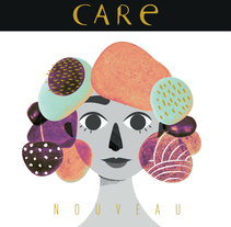 Care Nouveau - Wine Label. A Illustration, and Graphic Design project by Fabiola Correas - 16-11-2017