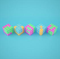 CUBIK: Mi Proyecto del curso Lettering 3D (modelado y texturizado con Cinema 4D). A 3D project by Néstor Ortiz         - 10.12.2017