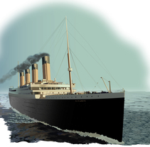 Infografía del Naufragio del Titanic - Ilustraciones realizadas en Adobe Illustrator. A Illustration, Infographics, and Vector illustration project by Alejandra Fisichella         - 26.11.2017