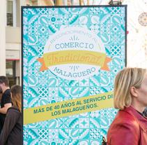 Campaña Reconocimiento Comercio tradicional Málaga. Um projeto de Design gráfico de DIKA estudio          - 28.11.2017