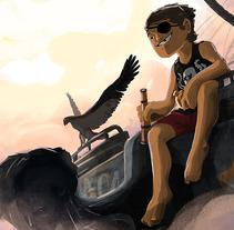 Piratas - proyecto en proceso. A Illustration project by Santiago Camacho         - 12.08.2016