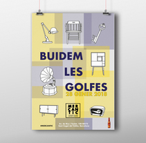 Cartel: Buidem les golfes. Un proyecto de Ilustración, Diseño gráfico e Ilustración vectorial de Sara Caride Carrera         - 09.12.2017