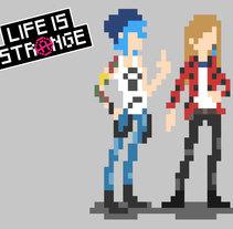 Chloe Price & Rachel Amber (Life is Strange) Pixel Art. Un proyecto de Diseño de personajes de Patricia Recuero         - 07.12.2017