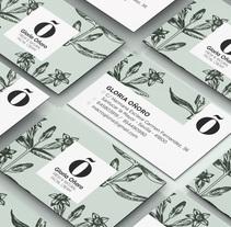 """Identidad Corporativa """"Gloria Oñoro"""". Un proyecto de Diseño gráfico de Natalia Martín         - 28.12.2017"""