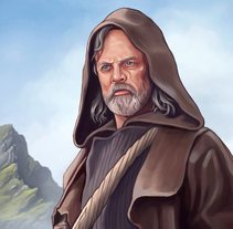 Luke Skywalker - The Last Jedi. A Illustration project by Rubén Megido         - 02.01.2018