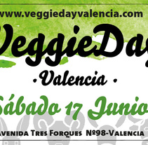 VEGGIE DAY VALENCIA - SANTUARIO COMPASIÓN ANIMAL -. A Illustration, and Graphic Design project by Violeta Mateu         - 19.06.2017