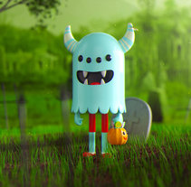 Monster Halloween. A Illustration, 3D, Art Direction, Character Design, To, and Design project by Jose Arias         - 11.11.2017