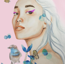 Mi Proyecto del curso: Retrato ilustrado en acuarela. A Fine Art project by Nora Jirafas         - 13.01.2018