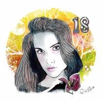 Mi Proyecto del curso: Retrato ilustrado con Photoshop. Un proyecto de Ilustración de Clàudia Piquer Casajuana         - 17.01.2018