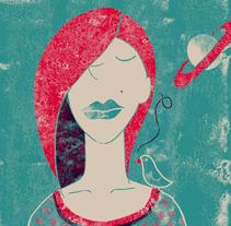 """Ejercicio con separación de tintas y texturas, mi canción """"Blue lips"""" de Regina Spektor. encuentro el ejercicio muy interesante y con grandes posibilidades. El resto de los proyectos los encuentro realmente inspiradores. Yo hice algo muy sencillito.... . Um projeto de Ilustração de Iana  perez nollet         - 18.01.2018"""