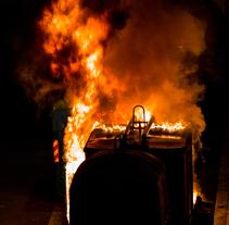 22/01/2018 Incendio de contenedor en Perchera/La Braña (Nuevo Gijón), Gijón – Asturias. A Photograph project by coudlain         - 22.01.2018