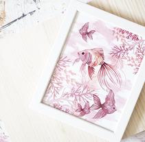 Colección OCEAN PINK- pattern design. Un proyecto de Diseño, Ilustración, Bellas Artes, Diseño de producto y Diseño de patrones de Rebeca Martín Martínez         - 29.01.2018