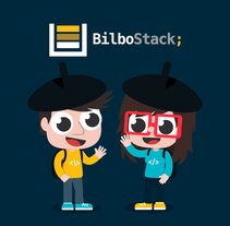 Bilbostack 2018. A Illustration, Events, Graphic Design, and Vector illustration project by Ainara García Miguel         - 30.01.2018