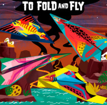 100 PTEROSAURS TO FOLD AND FLY. A Illustration, and Character Design project by Jhonny  Núñez         - 05.02.2018