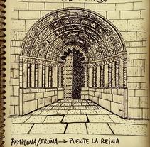 Diario ilustrado de una peregrina. Un proyecto de Ilustración de Delfi Mendoza         - 01.08.2016