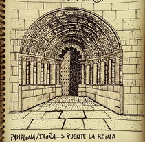 Diario ilustrado de una peregrina. Um projeto de Ilustração de Delfi Mendoza         - 01.08.2016