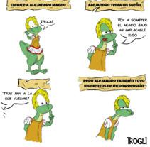 ¿Conoces a Alejandro Magno?. A Illustration project by Trogli  - 17-02-2018