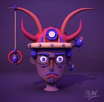 Autoretrato y futuro de mi arte. . A Illustration, 3D, and Character Design project by Osmar Axel  Rivera Mejia         - 18.02.2018