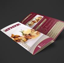 Menú Restaurant Bonhomía. A Graphic Design project by Paola Villegas         - 20.02.2018