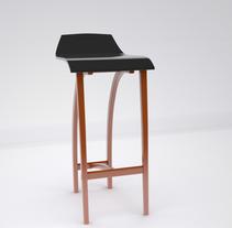 bar chair. Um projeto de 3D e Design industrial de Steven Ruiz         - 06.03.2018
