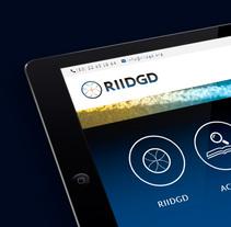 Branding · Diseño y desarrollo web RIIDGD. A Br, ing, Identit, Graphic Design, Web Design, and Web Development project by Ángela Blesa         - 20.03.2018