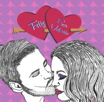 Mini cartel San Valentin. Un proyecto de Ilustración y Diseño gráfico de Sarie Stein         - 06.04.2018