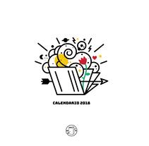 CALENDARIO ESCRITORES LATINOAMERICANOS. Un proyecto de Ilustración, Diseño gráfico e Ilustración vectorial de German Rosa         - 09.04.2018