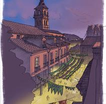 Mercado Medieval. Un proyecto de Ilustración de Chema G. Baena Art         - 17.04.2018
