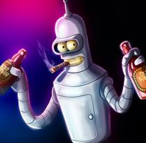 Bender, FUTURAMA + Speedpaint. Um projeto de Ilustração de AdrianArt         - 18.04.2018