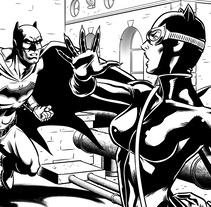 Catwoman vs. Batman. A Design, Illustration, Animation, Character Design, Fine Art, Comic, and Digital illustration project by David Cabeza Ruiz         - 24.04.2018